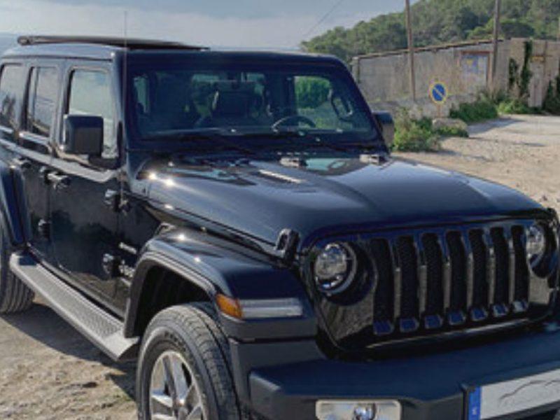 Jeep Wrangles 5 doors for rent in Ibiza