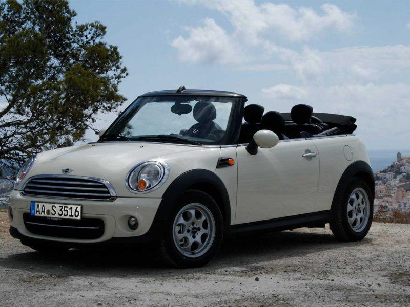 Mini Cooper Cabrio for rent in Ibiza