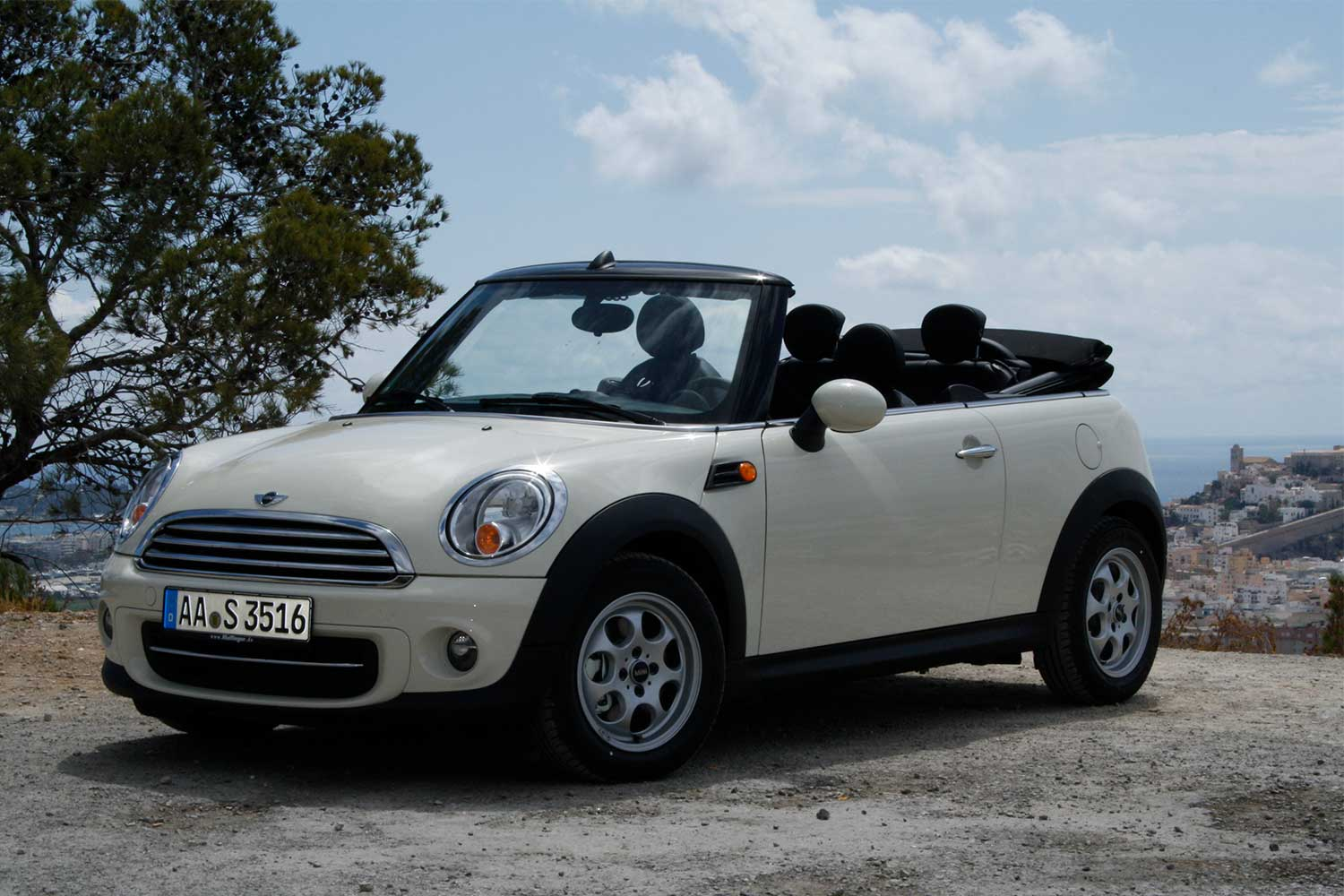 Mini Cooper Cabrio for rent in Ibiza